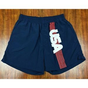 Chubbies Linerless USA 5.5 Pocketed Swim Trunks LG